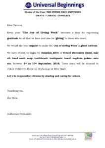Joy of Giving Week